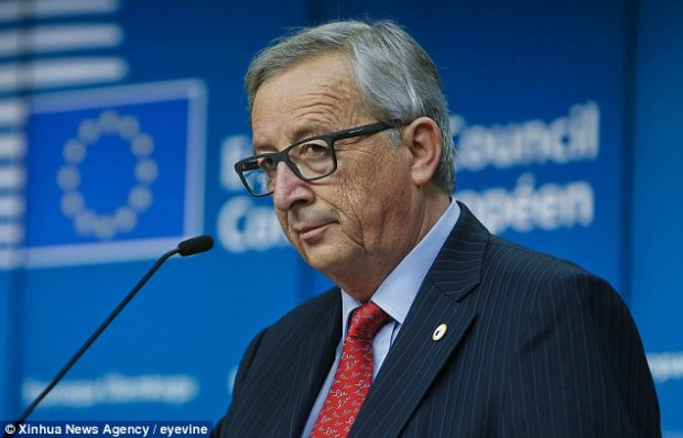 European Commission President Jean-Claude Juncker, pictured at last week's EU Summit, will pick up an extra £2,701.06 in backdated pay today