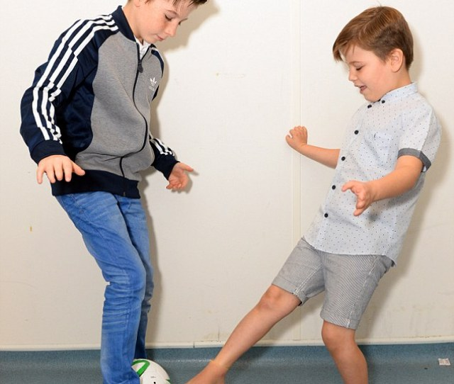 The Feet Will Allow The Boys To Walk More Comfortably And Play Football Without Their Stumps