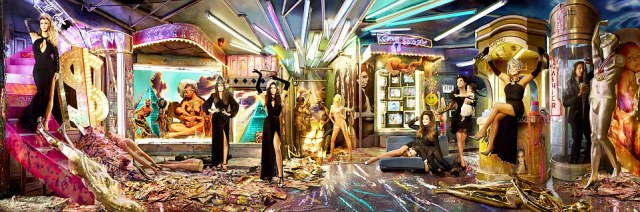 Two years ago: The Kardashians posed for this card by David LaChappelle in 2013