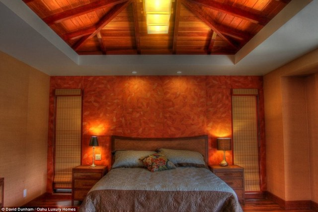 Relax: Warm lighting fills each of the bedrooms in the five bedroom home. The family will be able to spend time with friends as well as have alone time to relax and reflect on a wonderful vacation