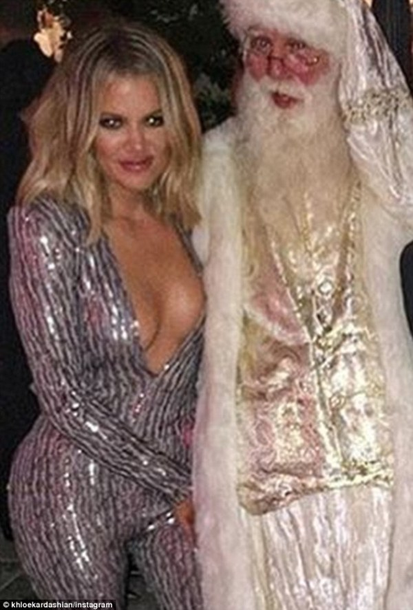 She knows how to deliver:Khloe Kardashian is in the best shape of her life now that she has been working out every day with trainer Gunnar Peterson. And on Christmas Eve the 31-year-old E! doll showed off the fruits of her hard work as she slipped into a plunging silver jumpsuit that revealed her chest and tiny waistline