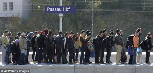 The shocking claim comes as Germany registered over one million migrants in 2015, five times last year's total