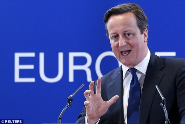 Britain's contributions to the European Union are expected to reach half a trillion pounds today. In 2013, David Cameron (pictured) secured a £30billion cut in the EU's budget