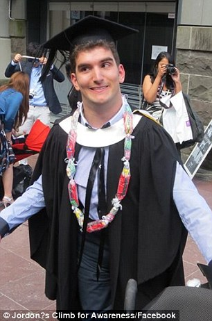 Mr Milroy graduated from university last year with a bachelor of communications in public relations