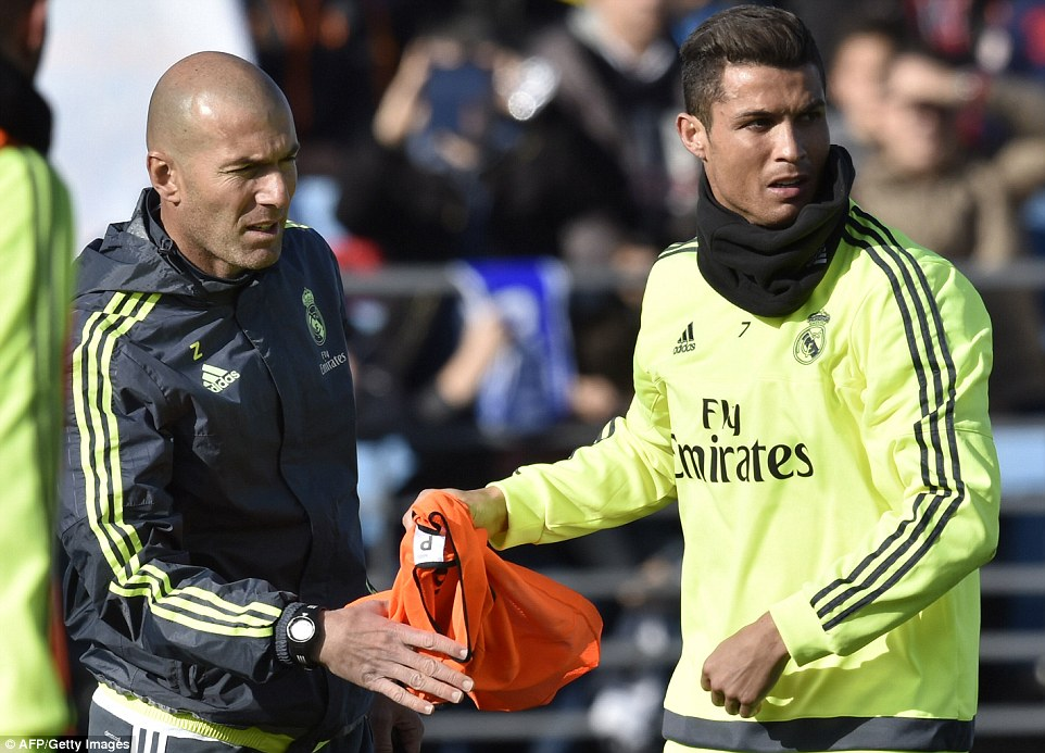 Image result for Zidane Real Madrid and C Ronaldo