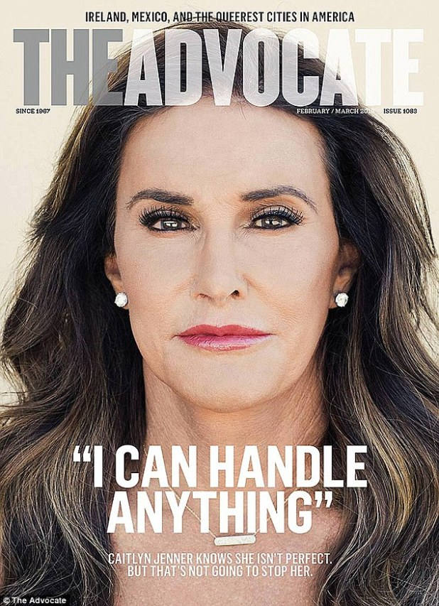 Not holding back: Caitlyn Jenner stars on the cover of The Advocate magazine's latest issue but denies she is the face of the trans community