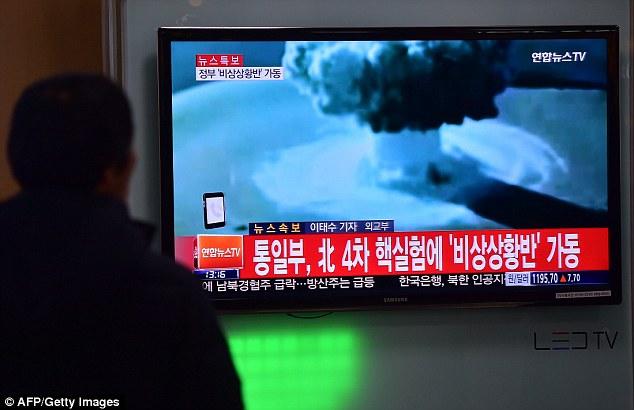 Image result for north korea bomb test 2016