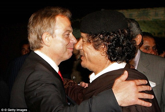 Warning: Colonel Gaddafi warned Tony Blair that if he was removed from power Islamic extremists would take over Libya with the ultimate goal of conquering Europe, it has been revealed