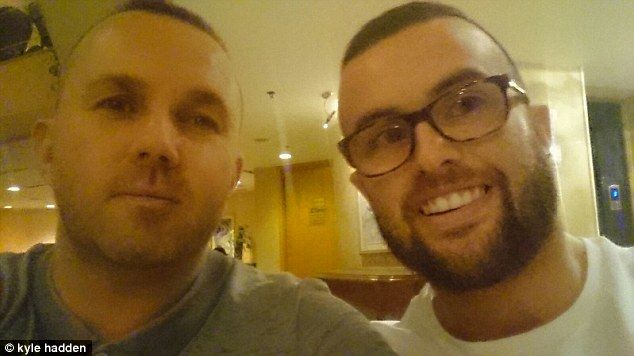 Kyle Hadden, 24 (right) and Mark Higgins, 43, (left) were walking on the beach in Hurghada when they heard gunshots