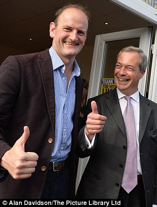 Douglas Carswell (left) faces an explosive confrontation over his 'disloyalty' towards Nigel Farage at a meeting of Ukip's ruling body tomorrow