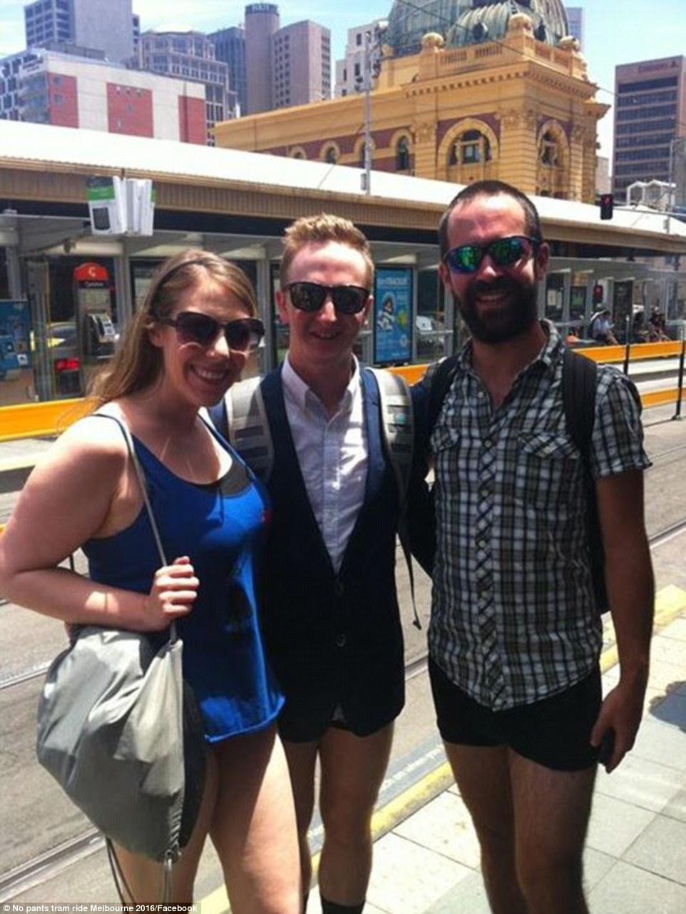 There were only three rules for the event: no pants, shorts or skirts while riding the tram in Melbourne