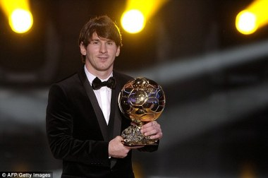 A year later the mercurial Argentine picked up the prize once again, after continuing his individual brilliance