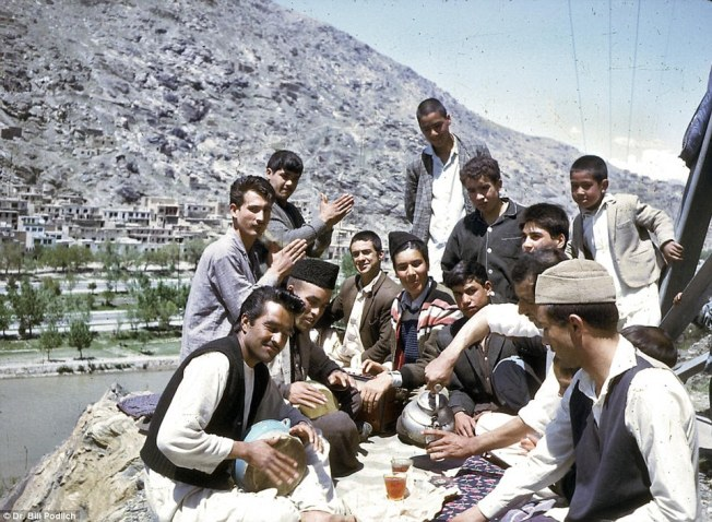 Picnic In Afghanistan shows a group of young Afghans sharing tea and music in their free-time
