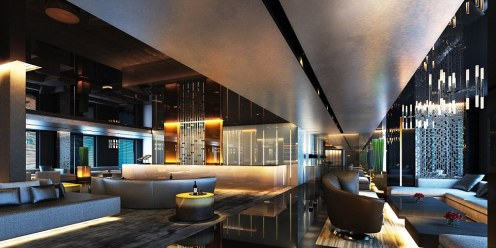 The reception counter will be decorated in a sleek design, complete with several lounge areas for passengers to relax in