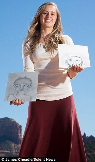 Bridget Nielson (nella foto), da Arizona, e Aluna Verse, dalla California, sono tra i membri della 'Comunità bambino Hybrid' che credono i loro figli vivono giganti astronavi aliene