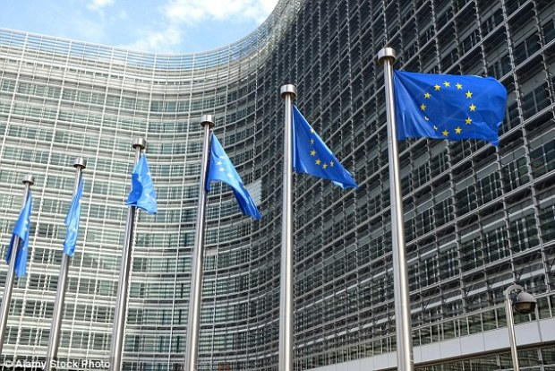 We can only wonder at their sense of timing. Just as our referendum on leaving the EU gets under way, Eurocrats have issued a blackmail threat against the UK. The European Commission's headquarters is shown
