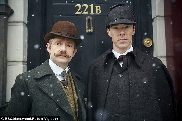 Loyal Benedict Cumberbatch fans have been left shocked after learning they are expected to fork out a staggering £3,000 to meet actors from his Sherlock drama at the annual three-day Sherlocked convention in London. Pictured: Benedict as Sherlock (right) alongside co-star Martin Freeman in the BBC drama