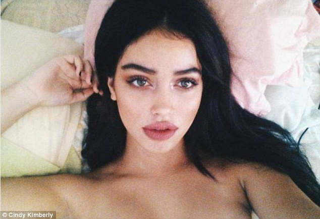 Dream: Cindy Kimberly, who rose to fame after Justin Bieber shared her photo with more than 50million followers, says her life has been a 'fairytale' since