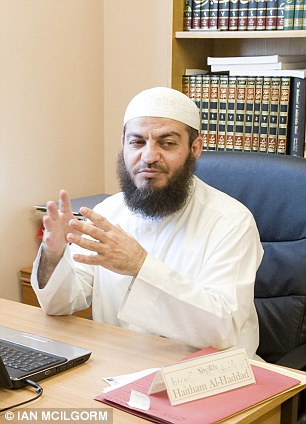 Haitham Al-Haddad, left, called Jews 'the descendants of apes and pigs' and praised Osama bin Laden