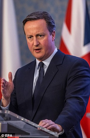No hurry: Mr Cameron said he would not rush an agreement if it was not 'available' in time for the Brussels summit on February 18 - and said he would not hurry a referendum either
