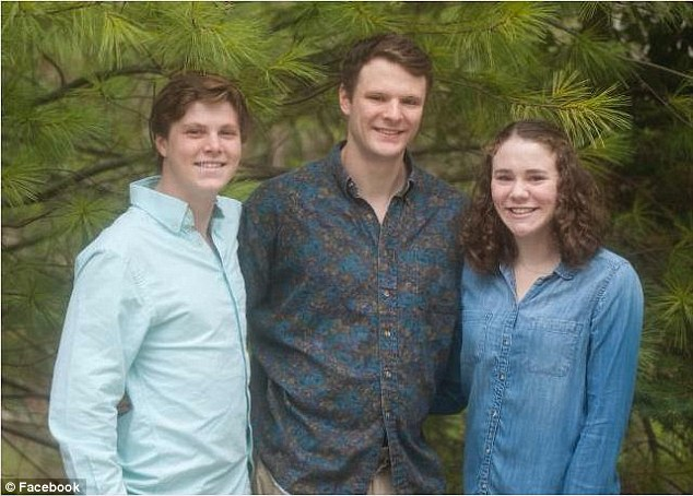 Warmbier (center with family members) was detained four days before North Korea conducted its fourth nuclear test in violation of UN sanctions