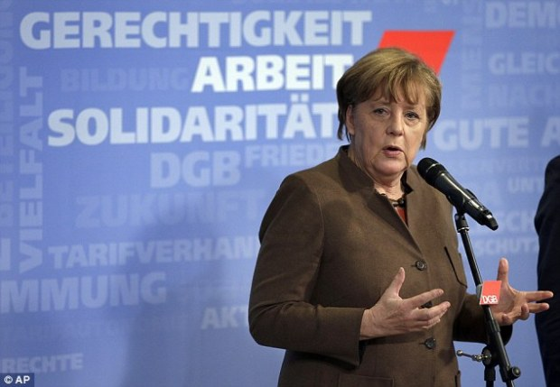 Upset: Turkey has promised German chancellor Angela Merkel (pictured) it would do 'everything it could' to stem the tide of migrants