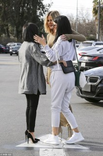 Too funny: The prank had the sisters in hysterics, with Kourtney and Khloe roaring with laughter