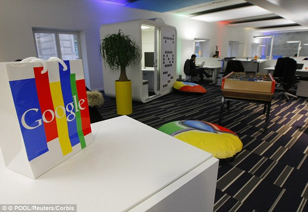 French authorities have been aggressively chasing Google for more than 500 Euros, furious at the tax avoidance ploy used by the firm, which registered all European sales in Dublin and benefitted from the lower tax rate in Ireland. Pictured is Google's office in Paris