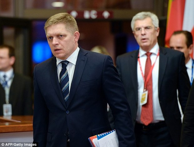 Robert Fico urged the 28-member bloc to stop the inflow of 'illegal migrants' and called the EU's proposed quata system for distributing migrants a 'complete fiasco'