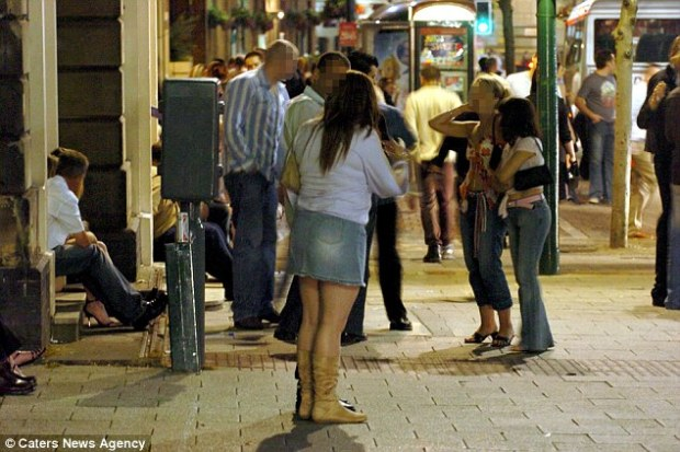 Comparison: Mrs Phillips said that a 'very similar situation to what happened in Cologne could be described on Broad Street in Birmingham every week where women are baited and heckled' (file picture from 2004)