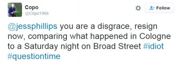 Blasted:Her remarks prompted a furious response on Twitter from viewers of the BBC One show last night