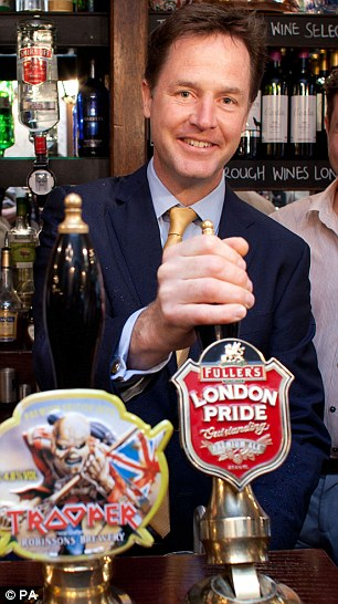 Cheap: A pint of beer in Parliament's bars costs just £2.90 - 70p cheaper than the average in London