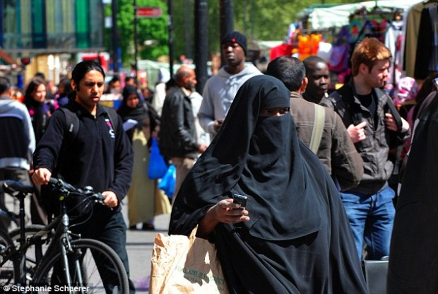 Eight areas around the country where Muslims make up a significant number of local residents have been highlighted. In the borough of Tower Hamlets (pictured) the proportion stood at 45.6 per cent in 2014