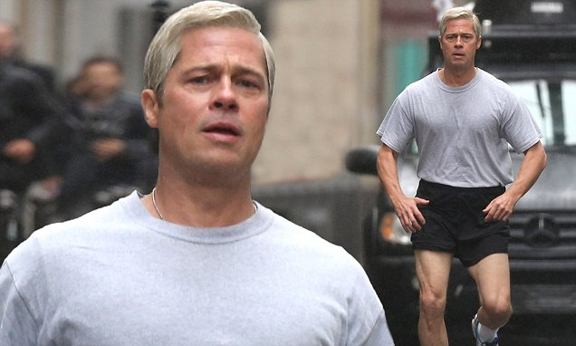 Brad Pitt Displays Muscular Legs In Miniscule Sports