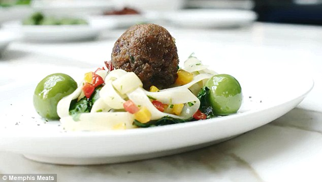 Memphis Meats, which grows meat from animal cells, will make its debut this week and plans to have its animal-free products on the market in three to four years. To show just how busy they've been in the lab, they unveiled the first meatball grown from beef cells