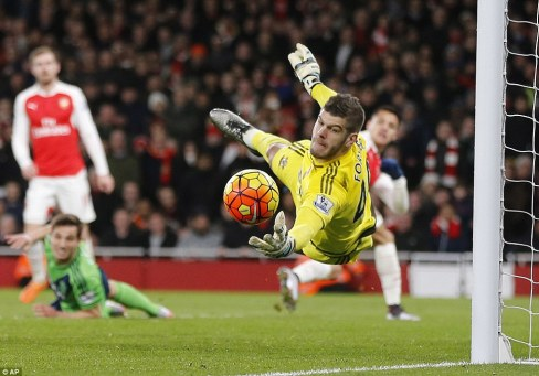 Forster was on hand to make another save as the England keeper kept title-chasing Arsenal at bay