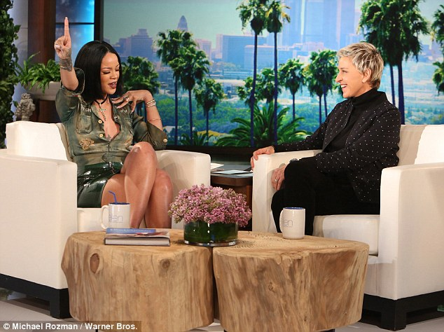 Her jam: Rihanna also revealed that her go-to karaoke song was Living On A Prayer by Bon Jovi