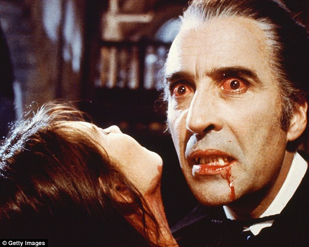 A new book claims that the blood-sucking vampire Count Dracula, played by Christopher Lee above, wasn't from Transylvania - but Devon