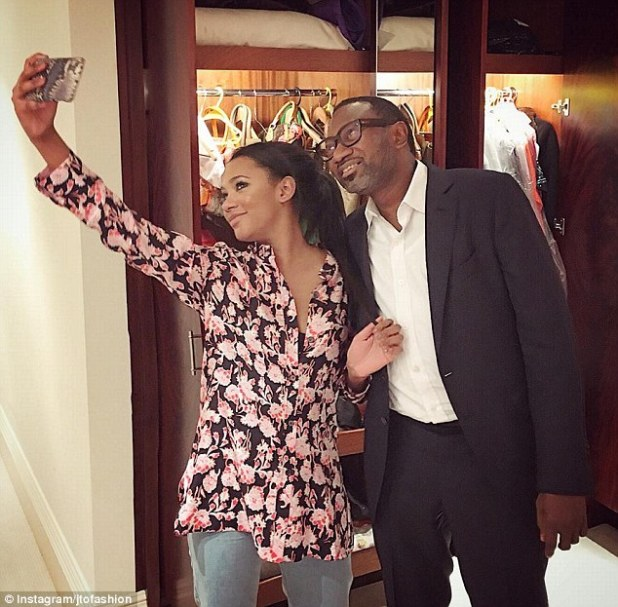 Temi's father Femi Otedola may be a Nigerian billionaire, but is rarely extravagant, according to his daughter. He only learned to use an iPad a year ago and still uses an old pay-as-you-go-phone