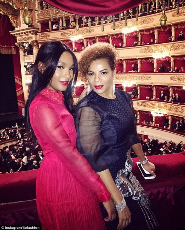 Temi and her mother Nana recently attended the opening night of the opera in Milan as guests of the design house Bottega Veneta