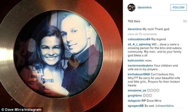 Last comment: Mirra posted two Instagram photos shortly before he killed himself, one of him and his wife