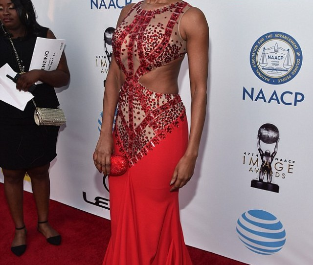 Jennifer Williams Sizzled In A Vibrant Red Dress That Was Adorned With Sequins