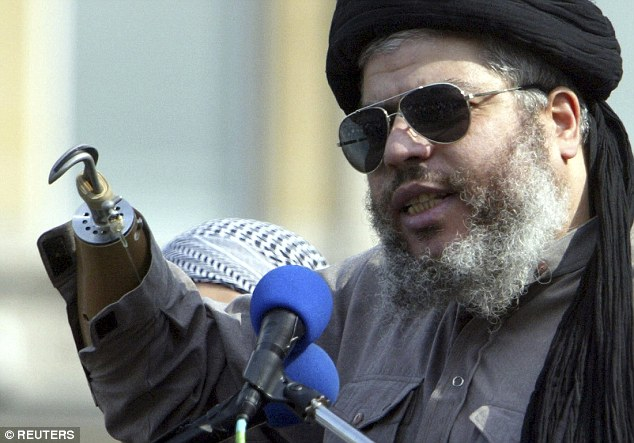 Hate preacher: Abu Hamza spent years spouting evil on Britain's streets and is now serving life in America