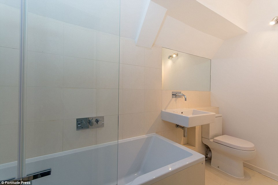 All the mod cons: It comes with a recently fitted modern bathroom upstairs in the two-storey property in south London