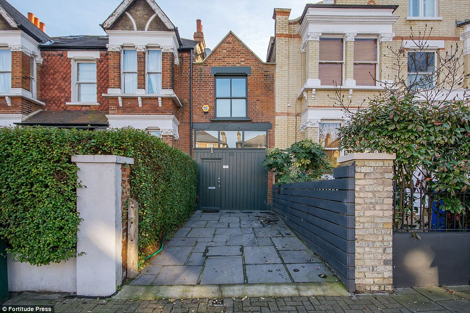 Wide berth:This is the 10 foot wide home on the market for £800,000 which surely proves that London property prices are out of control