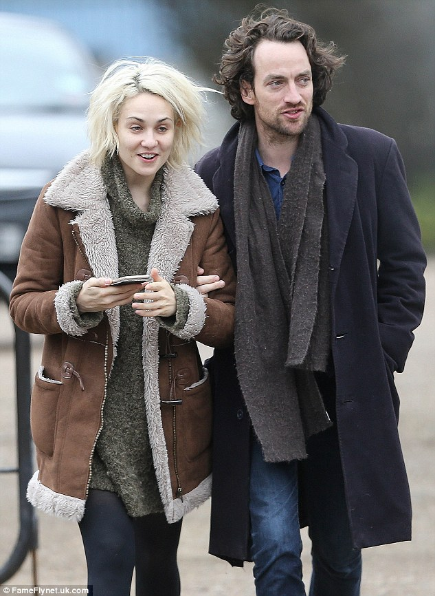 Tuppence Middleton is pictured with now-ex boyfriend Robert Fry in London in February 2016