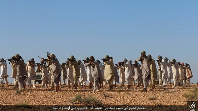 JIhadis in Libya train in the province of Tripoli as ISIS continues to expand in the war-torn country