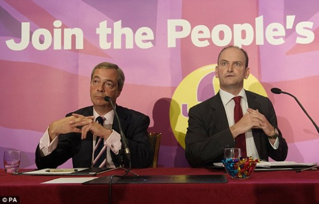 Douglas Carswell, pictured with Ukip leader Nigel Farage, said the receipts unveiled by Channel 4 News was 'truly shocking' and 'intolerable'