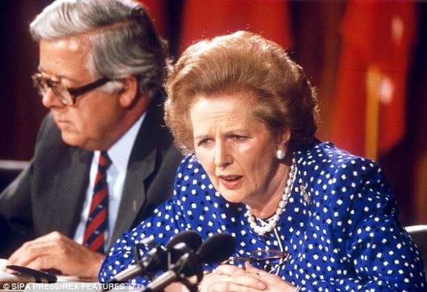 Lady Thatcher (right) attacked the EU project as 'contrary to British interests and damaging to our Parliamentary democracy'