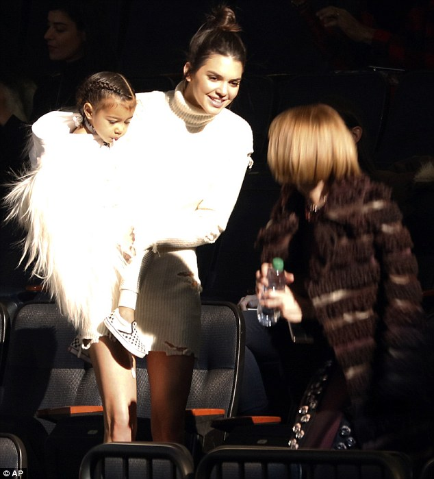 Wintour wonderland: Vogueeditor-in-chief Anna was thoroughly charmed by the youngster